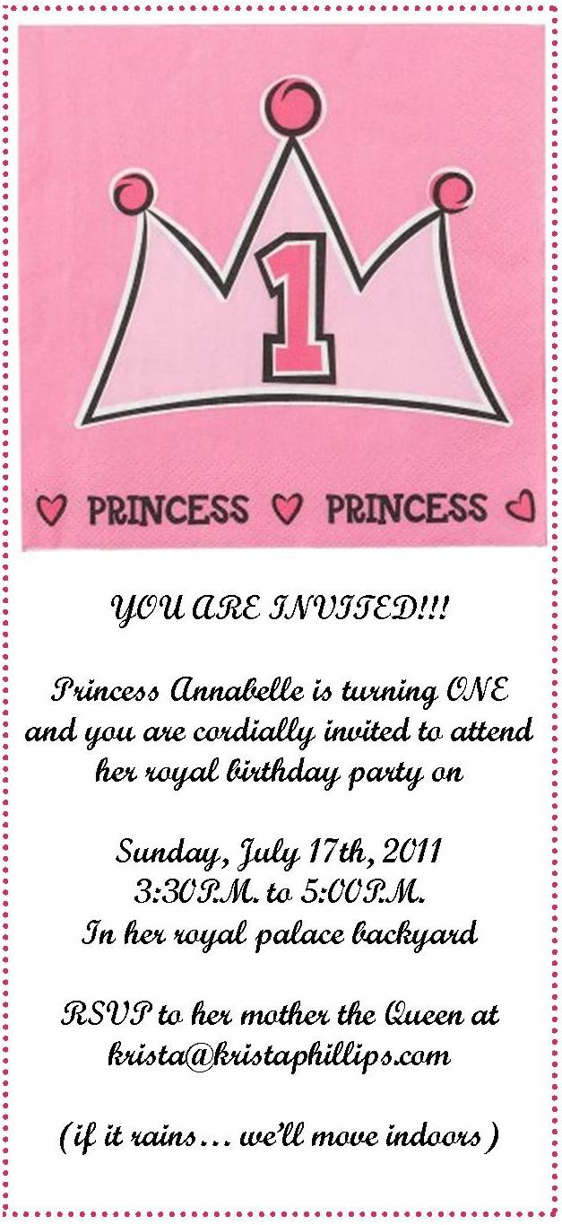 Annabelle\'s Official (online) Birthday Invitation – Krista Phillips