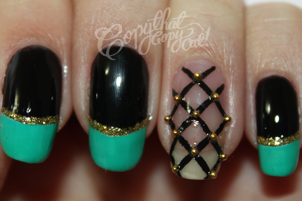Gucci summer fashion 2012 inspired nail art copy that copy cat gucci summer fashion 2012 inspired nail art prinsesfo Images