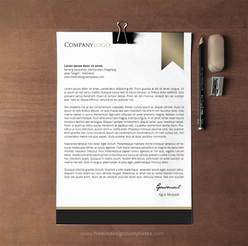 Free Indesign Letterhead Template