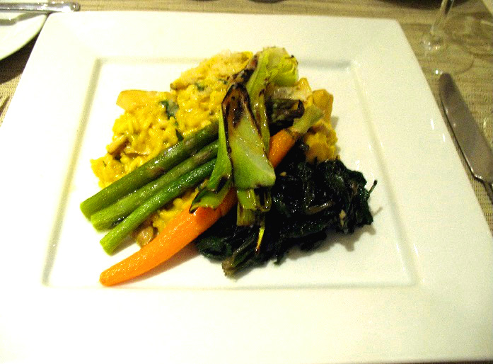 Perfect Midtown Workday Lunch : Saffron Wild Mushroom Risotto With Grilled  Vegetables