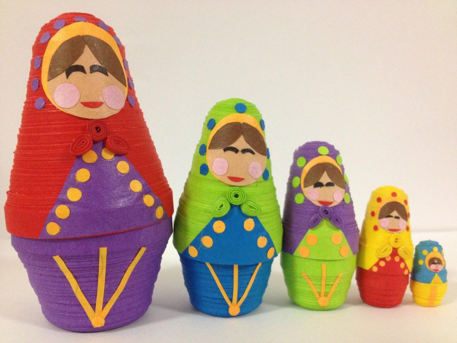Babushka Nesting Dolls 3D Quilling