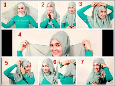 cara mengenakan jilbab