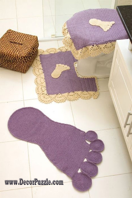 diy bathroom rug sets, bath mats 2015, crochet purple bathroom rugs and carpets