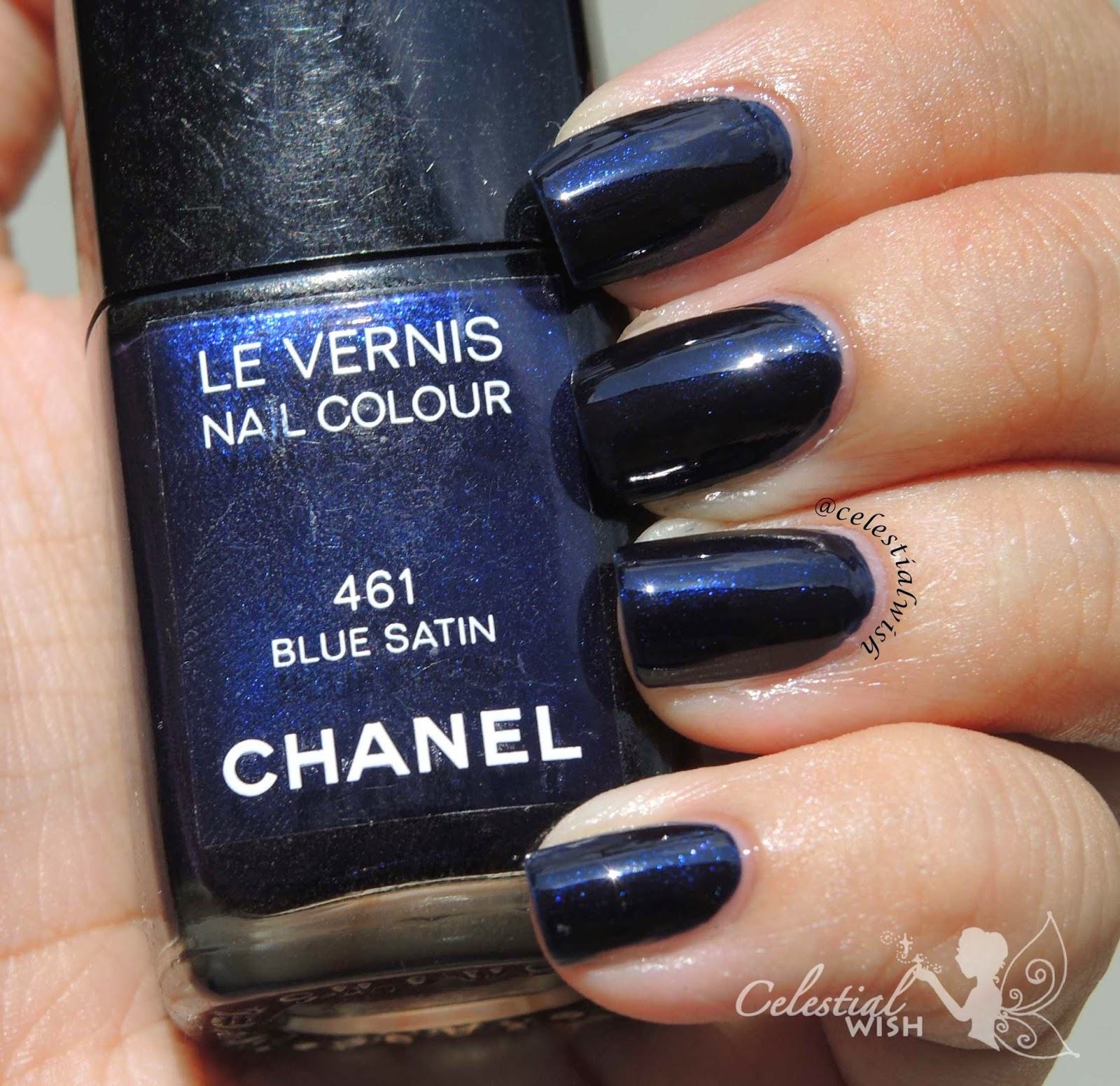 Chanel #461 Blue Satin