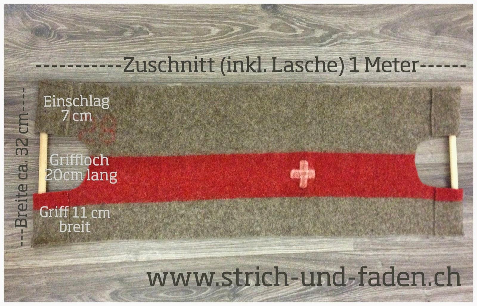 mit Strich und Faden | Kaminfeuertasche DIY Anleitung