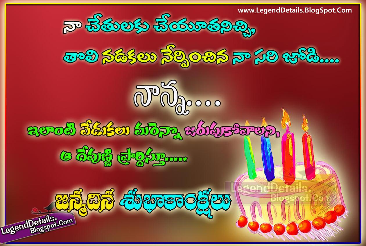Birthday Wishes to Father in Telugu – Telugu Birthday Greetings