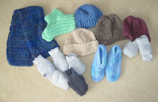 crocheted items for the homeless