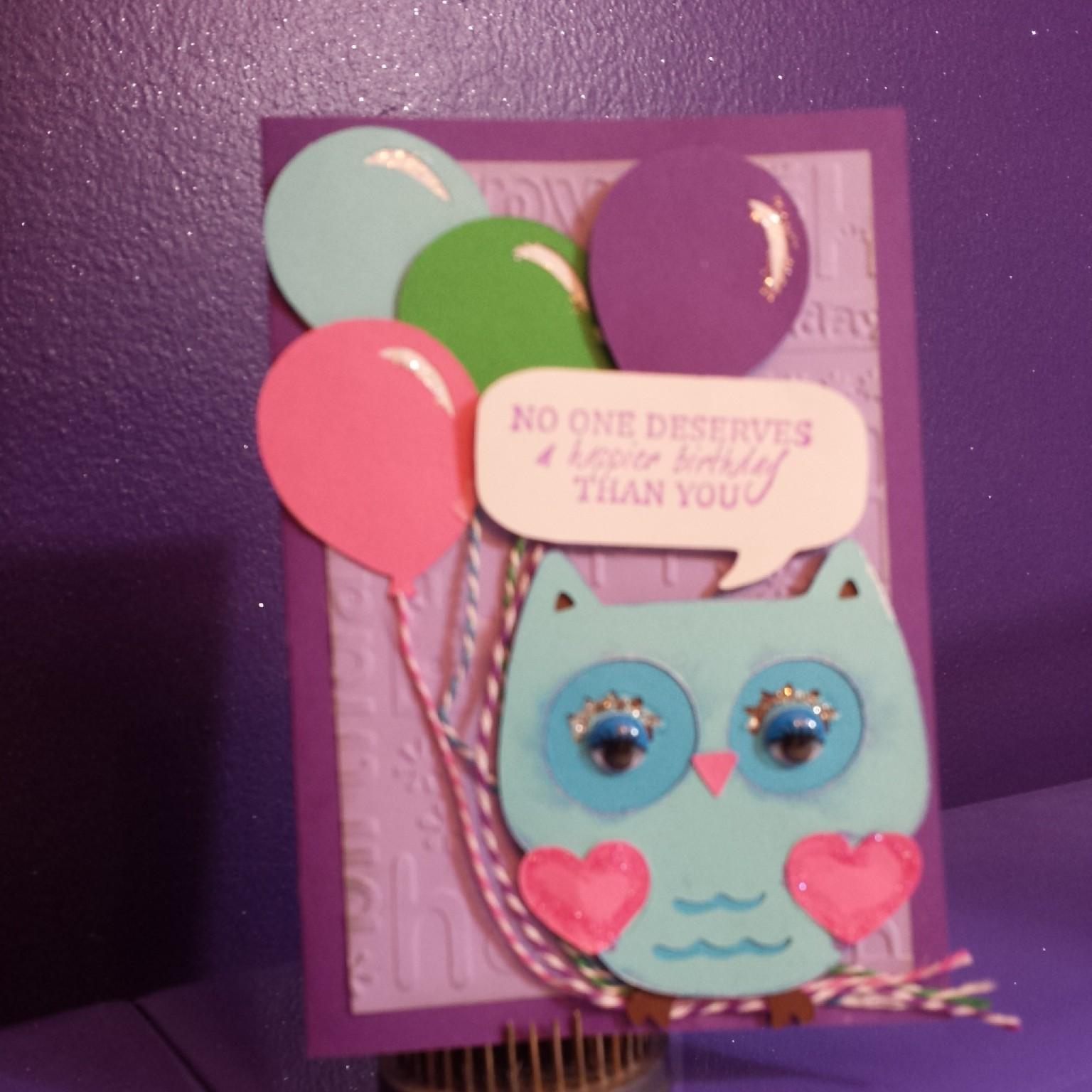 Melody Lane Designs Owl Birthday Card
