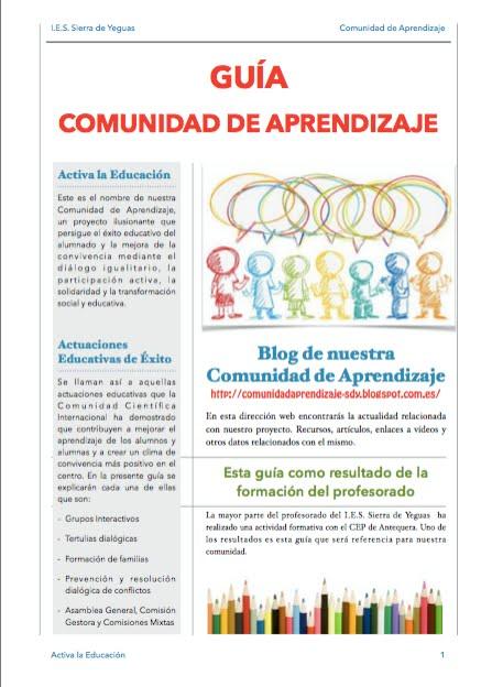 GUÍA COMUNIDAD DE APRENDIZAJE