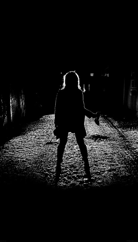 Girl Silhouette Dark Street Scary Maybe   iPhone 6 Wallpaper