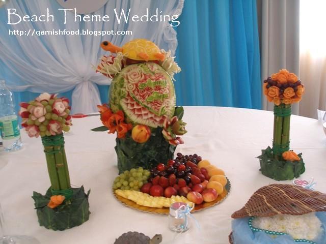 fruit carving arrangement