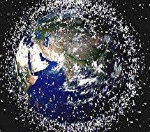 No son estrellas, es la BASURA que rodea la Tierra