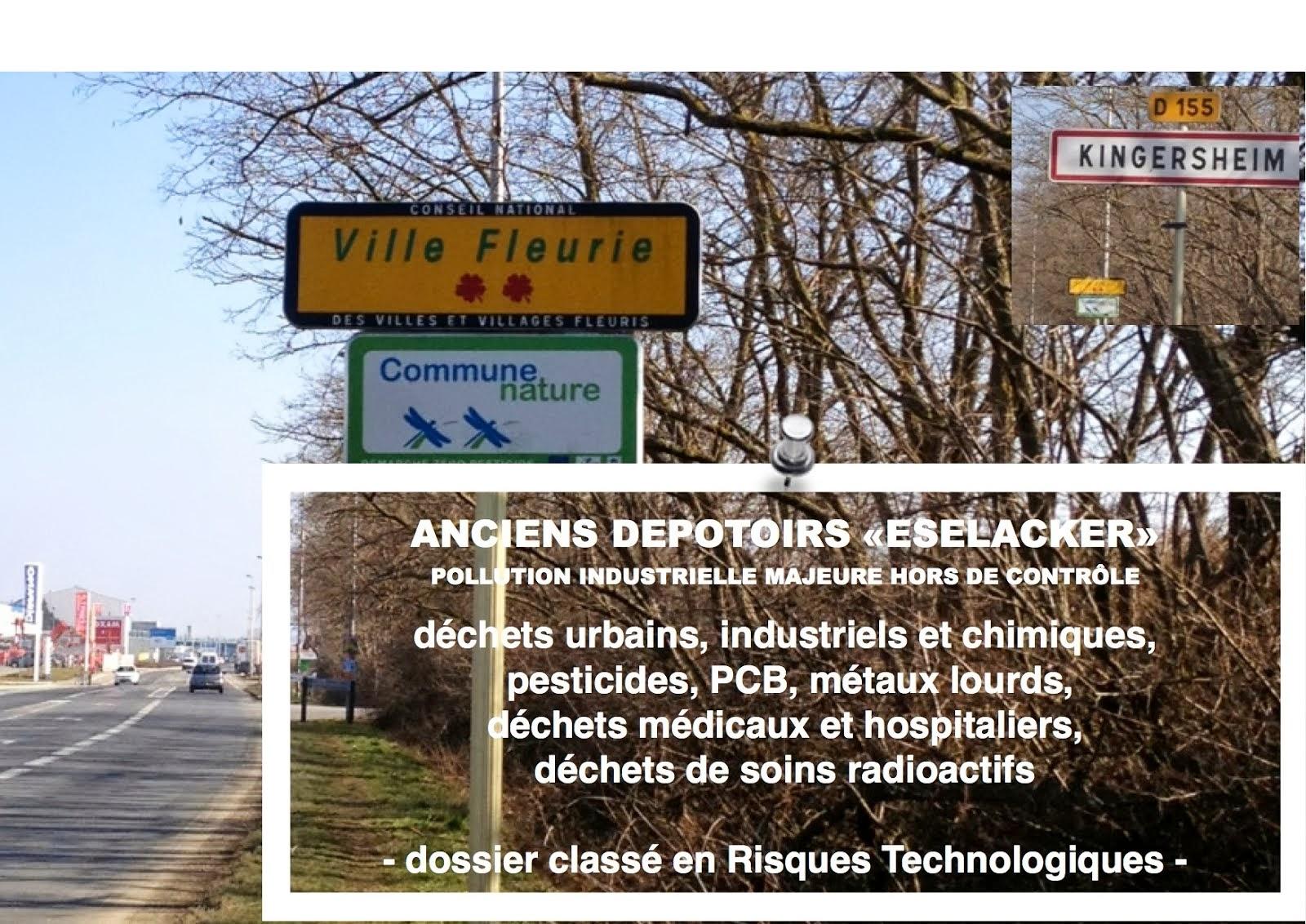Kingersheim, Cadastre Toxique, Méga Spot d'anciens dépotoirs