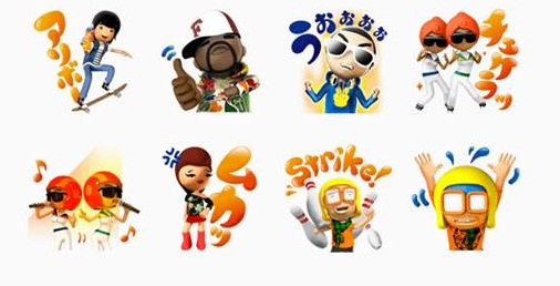 Fanta play day line stickers