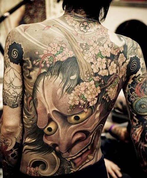 Japanese Hannya Mask Tattoos