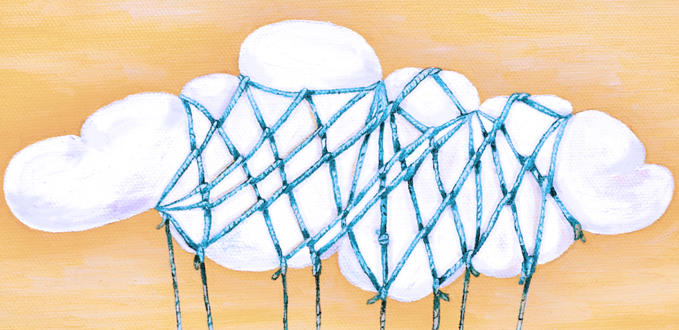 a tied cloud