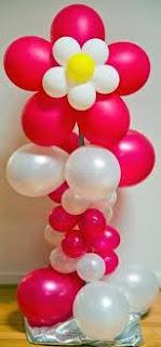 balon standing bunga