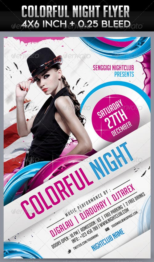 GraphicRiver Colorful Night Flyer Template