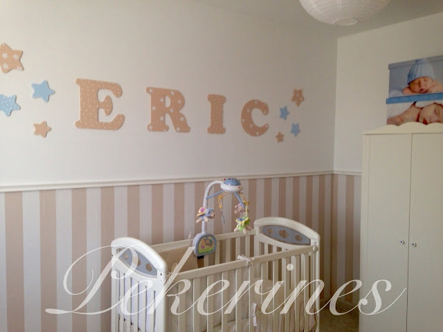 Decoraci n infantil pekerines letras de madera para decorar - Estrellas decoracion infantil ...