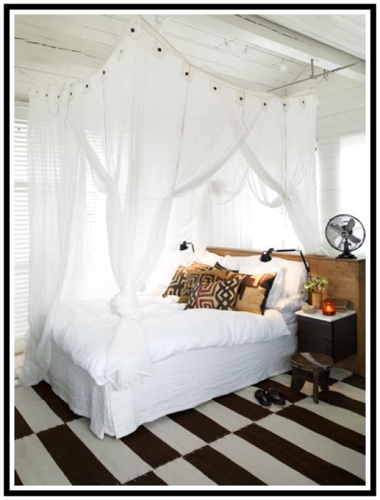 Marits vita skrin Sänghimmel