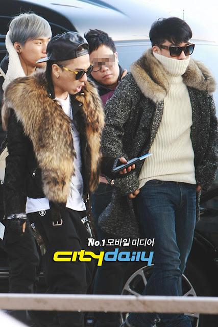 Big Bang Taeyang Seungri airport fashion 121214, Galliano & Balmain