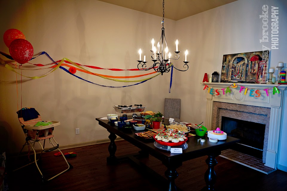 birthday fiesta table setup
