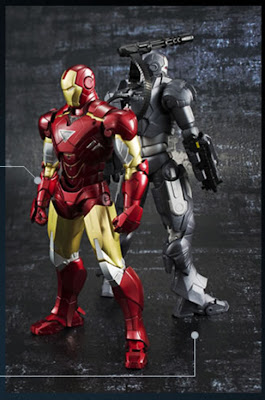 Bandai SH Figuarts Iron Man 2 - Iron Man Mk VI & War Machine figures