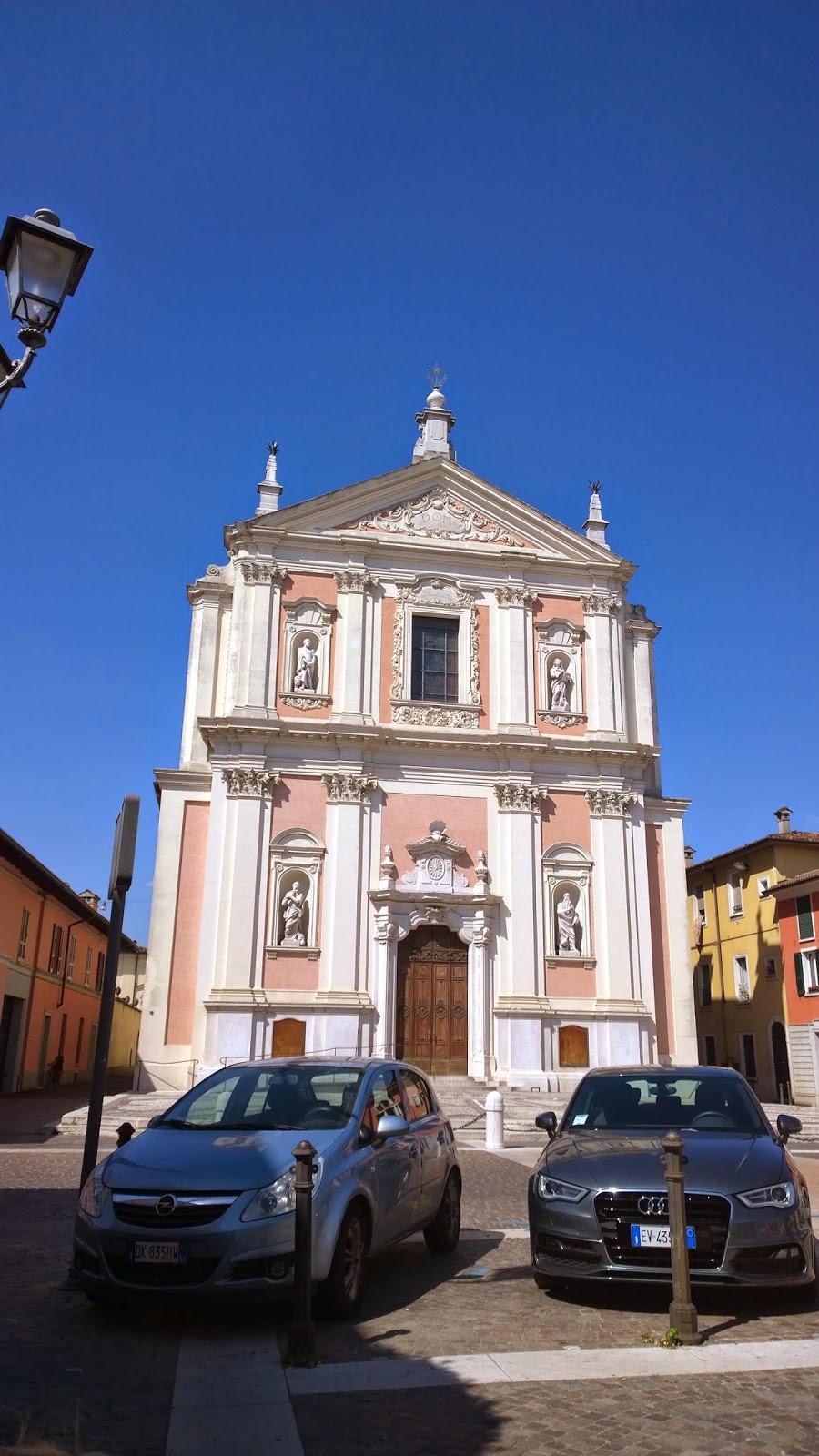 Typical italian town church