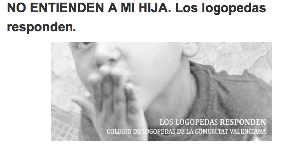 LOGOPEDAS RESPONDEN: COLEGIO LOGOPEDAS DE VALENCIA