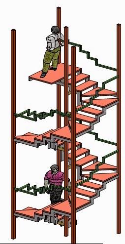 Minimarqui escalera met lica 1 for Escalera caracol 2 pisos