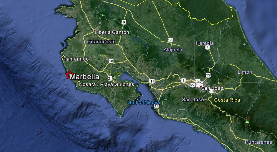 About marbella costa rica about map people always ask where marbella is or where the best waves are in costa rica in relation to popular tourist towns like tamarindo and nosara gumiabroncs Gallery