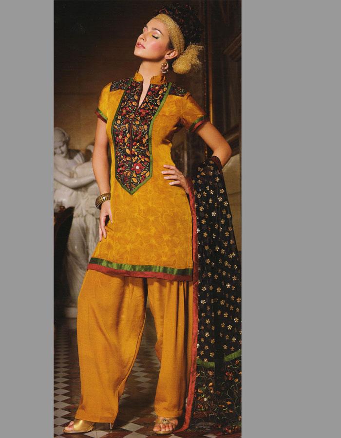 Hairstyles For Short Hair On Salwar Suits : ... the design of salwar kameez focus on reducing shalwar kameez churidar