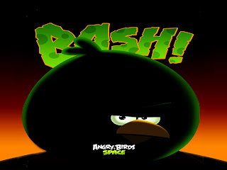 Angry Birds Space Green Bird Bash Wallpaper