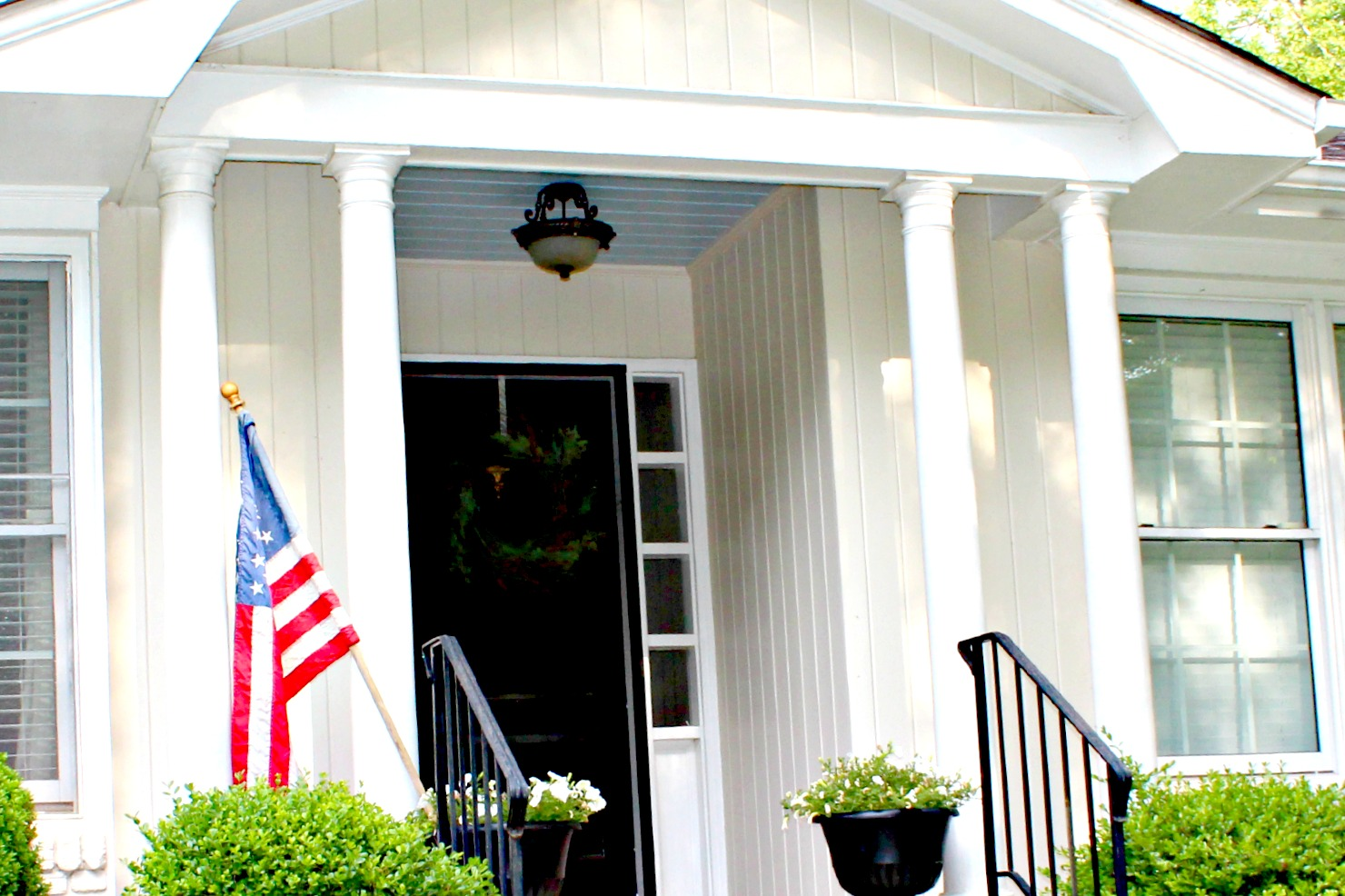 Southern tradition how to add haint blue porch ceiling for Balcony ceiling