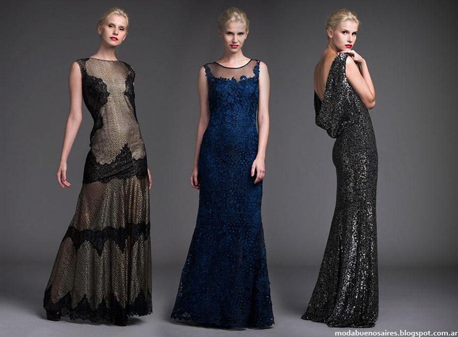 Moda otono invierno en vestidos de noche