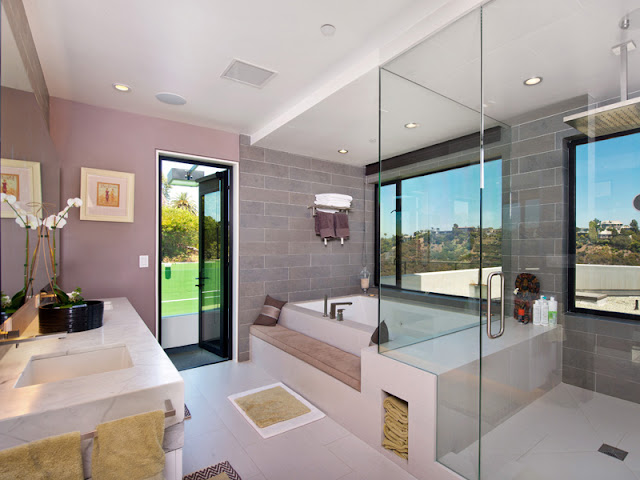 Photo of amazing modern bathroom interiors in Bel Air modern residence