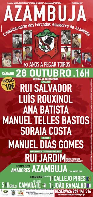CARTEL AZAMBUJA(PORTUGAL) 28 OYTUBRO 2017. ABRE PRAÇA RUI SLVADOR