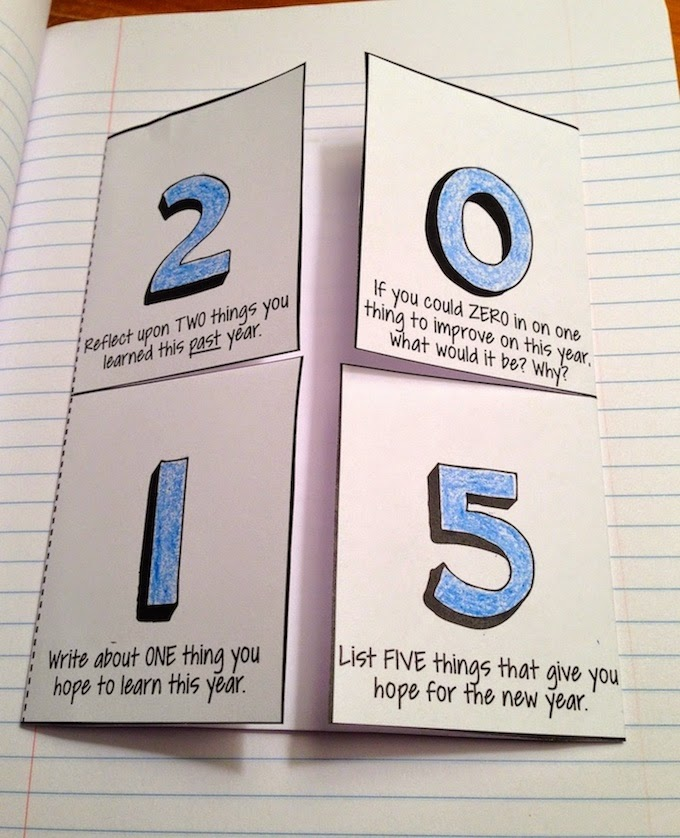 Interactive 2015 New Year Writing Activities Free