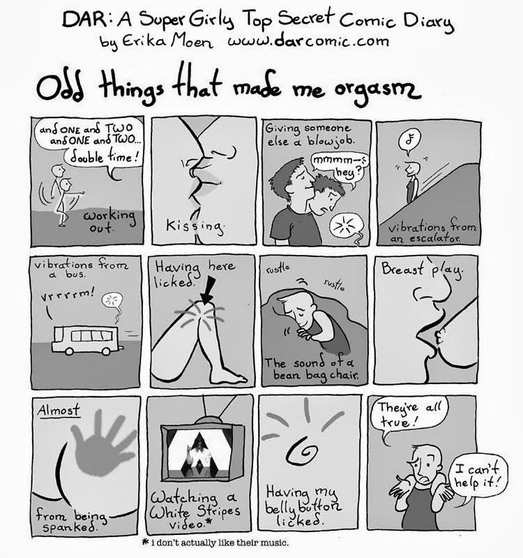 orgasmo femminile vignetta