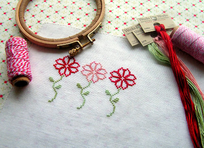 February free cross stitch pattern