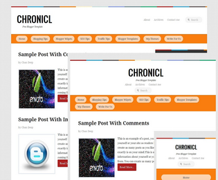 Chronicle Blogger Template