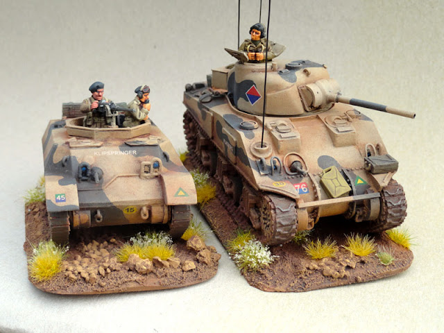 28mm, 1/56th, 1:56, Stuart M3A3, Sherman V, Recce, Natal Mounted Rifles, SA Field Artillery,South African 6th Armoured Division, Italian Campaign, 1944, Company B, Warlord Games