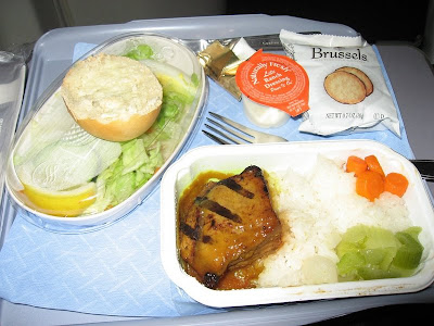 comida de avion pollo