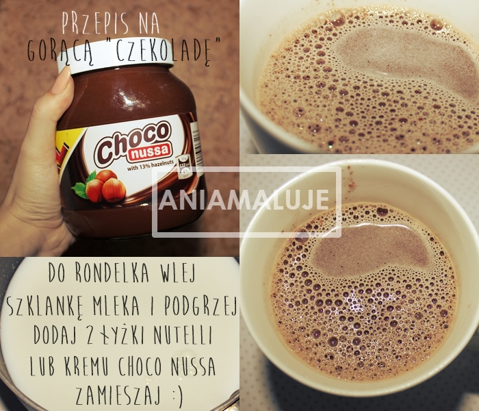 hot chocolate drink based on nutella