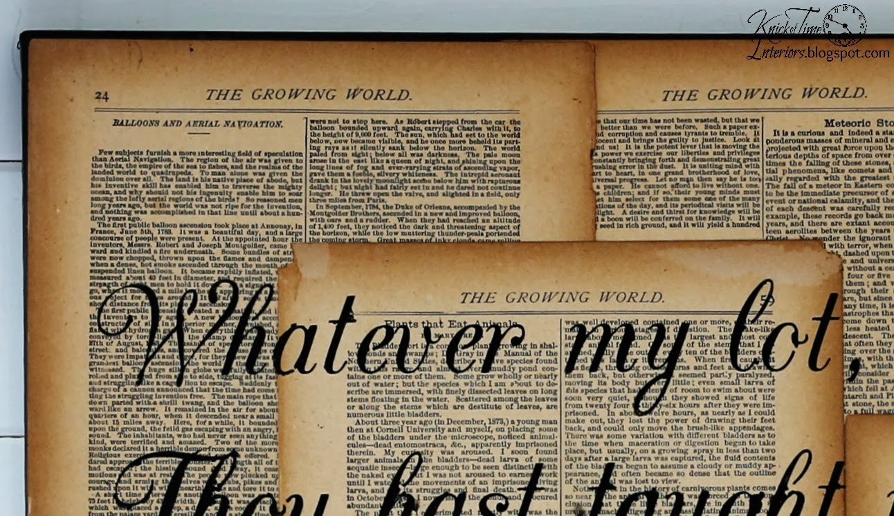 Repurposed Book Page Canvas Hymn Art | Knick of Time