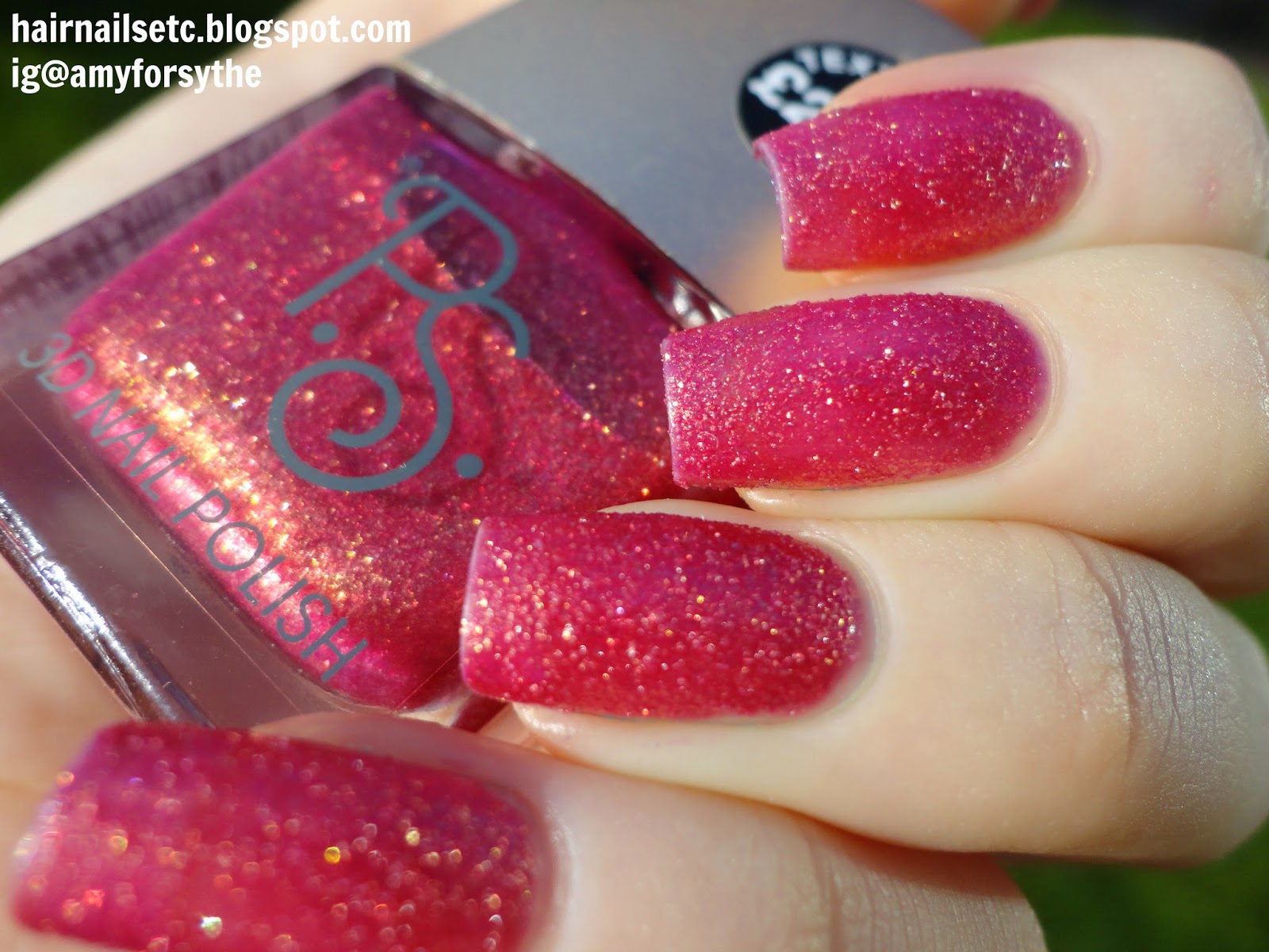 Primark PS 3D Texture Nail Polishes Swatches and Review Red