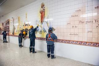 História de Ipanema RJ é retratada em painel