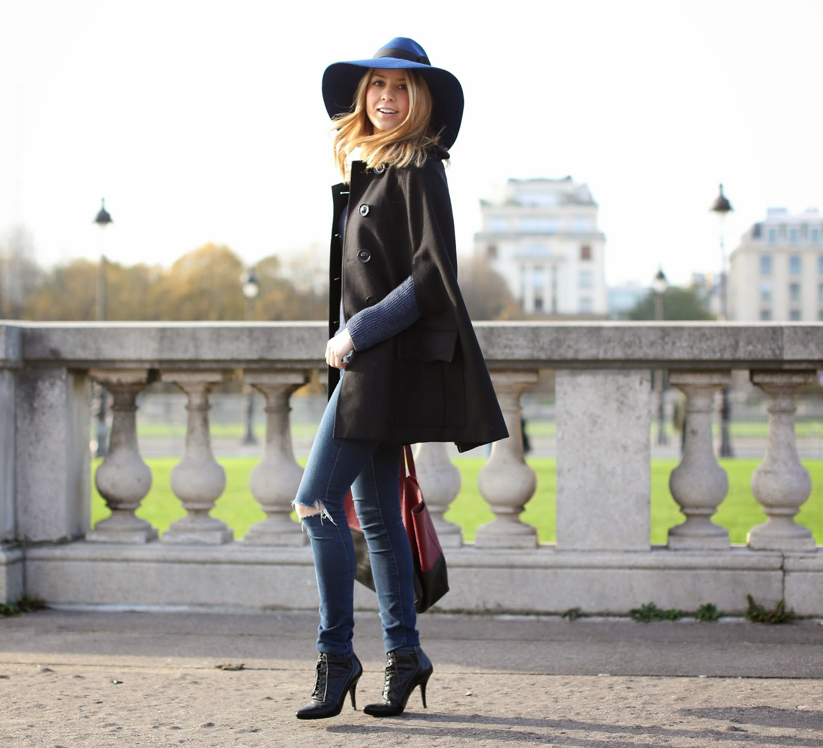 modern fairytale, Disney, burberry, cape, givenchy, paris, hat, céline, frame denim, street style, fashion blogger