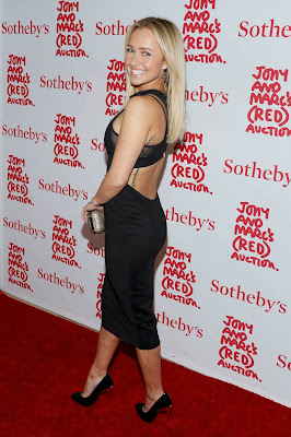 Hayden Panettiere sexy cutout black dress in red carpet at (RED) Auction