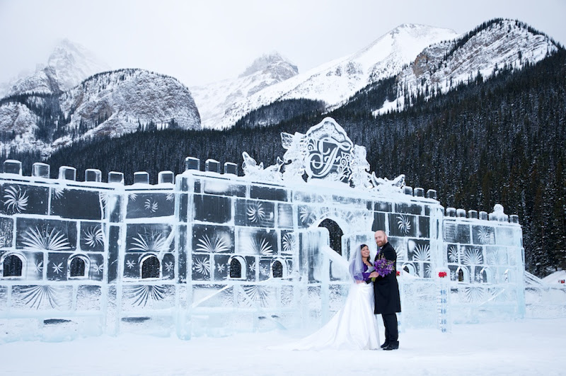 Winter Wedding Fairmont Cau Lake Louise